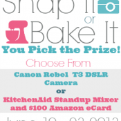 Giveaway: Snap It or Bake It