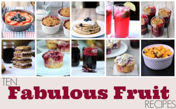 Ten Fabulous Fruit Recipes from This Gal Cooks. A few recipes ranging from blueberry to cherry treats that will please the crowd!