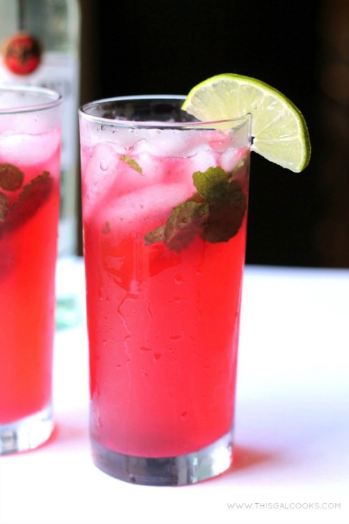 Blackberry Mojito from www.thisgalcooks.com This classic drink is made spectacular with the addition of fresh #blackberry julie