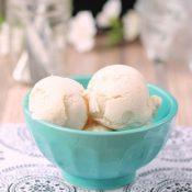 Dairy Free Vanilla Peach Ice Cream