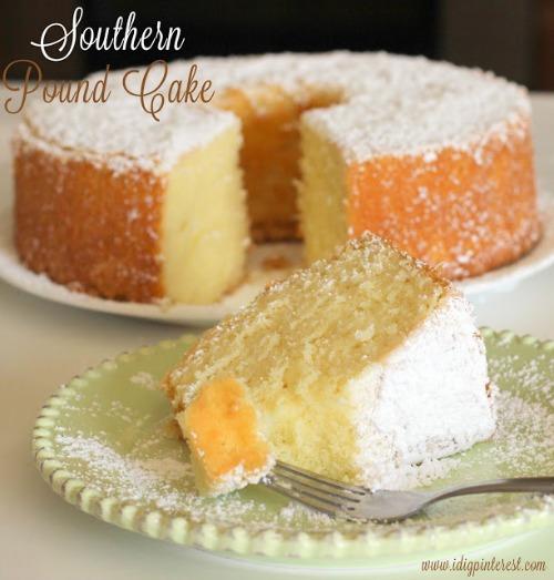 Southern Pound Cake by I Dig Pinterest