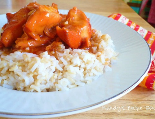 Slow Cooker Orange Chicken by Mandy's Recipe Box