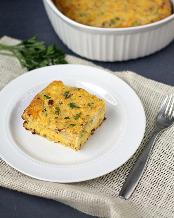 Breakfast Egg Bake Casserole by www.thisgalcooks.com