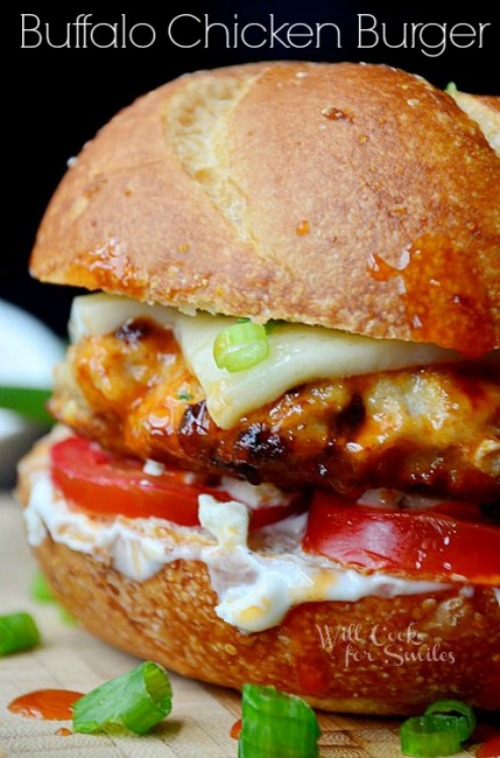 Buffalo Chicken Burger by Will Cook For Smiles