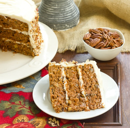 Caramel Carrot Cake by That Skinny Chick Can Bake