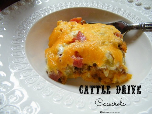 Cattle Drive Casserole by Who Needs A Cape?