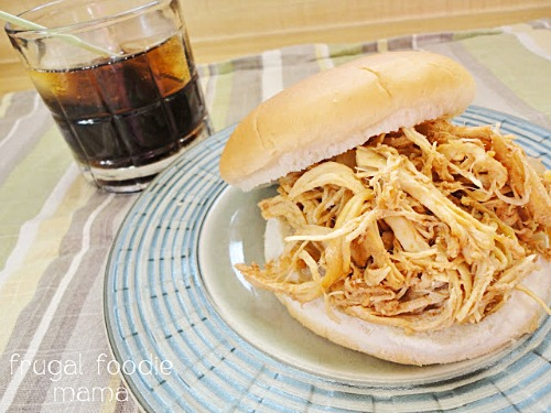 Crockpot Captain and Coke Pulled Chicken