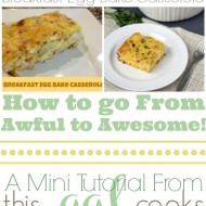 Food Photography Tips: Breakfast Egg Bake Casserole