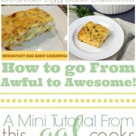 Food Photography Tips: Breakfast Egg Bake Casserole from www.thisgalcooks.com