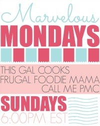 Marvelous Mondays Link Party at This Gal Cooks