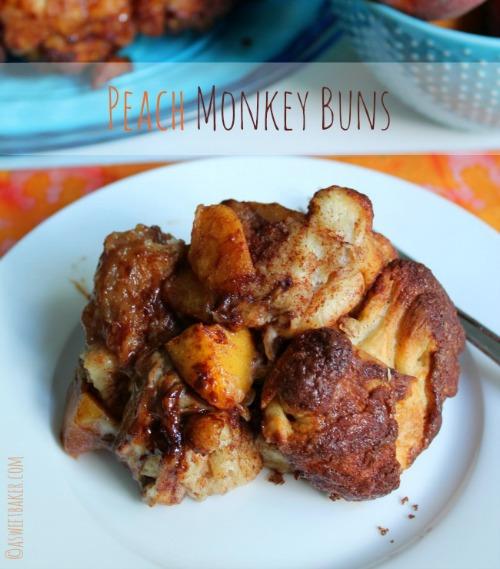 Peach Monkey Buns by A Sweet Baker
