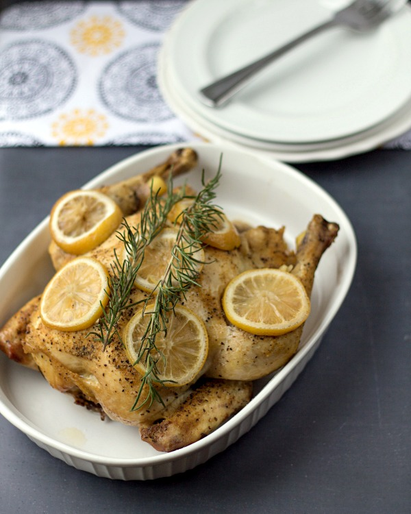 Crockpot Lemon Rosemary Chicken