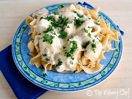 Slow Cooker Chicken Stroganoff by The Weary Chef