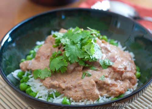 Slow Cooker Chicken Tikka Masala by A Family Feast