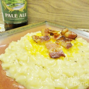 Beer Cheese Risotto by Frugal Foodie Mama