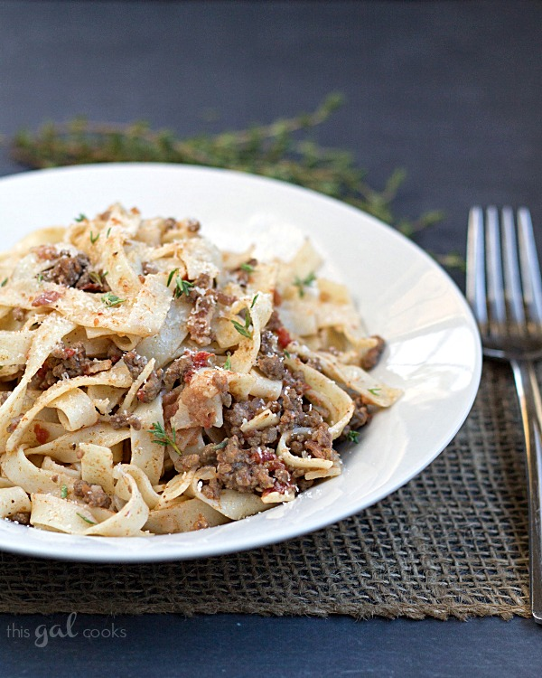 Easy Bolognese Sauce with Egg Fettuccini 11wm