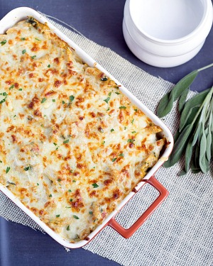 Four Cheese Pumpkin Pasta Bake from This Gal Cooks