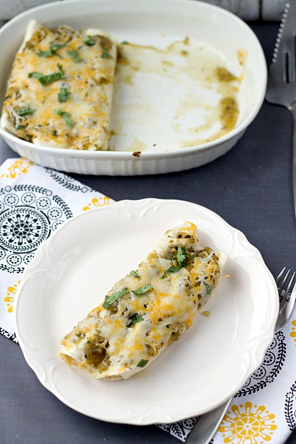 Green Sauce Chicken Enchiladas from www.thisgalcooks.com #enchiladas #greensauce #easymeals