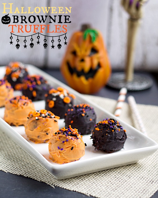 halloween brownie truffles from wwwthisgalcookscom halloween brownies truffles