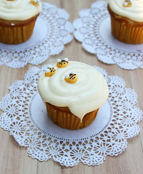 Honey Vanilla Cupcakes by What's Cooking Love?