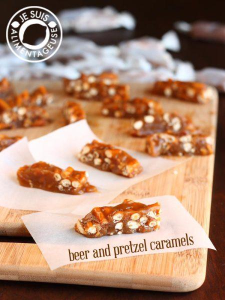 Beer Pretzel Caramels from Lisa @ Je Suis Alimentageuse