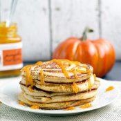 Pumpkin Swirl Pancakes with Pumpkin Butter Topping