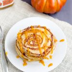 Pumpkin Swirl Pancakes with Pumpkin Butter Topping from www.thisgalcooks.com #pumpkin #pancakes #breakfast