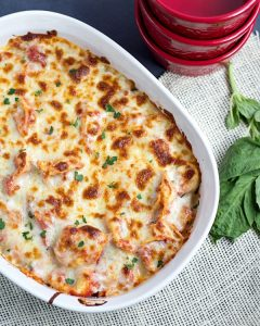 Twenty Minute Easy Tortellini Bake from www.thisgalcooks.com