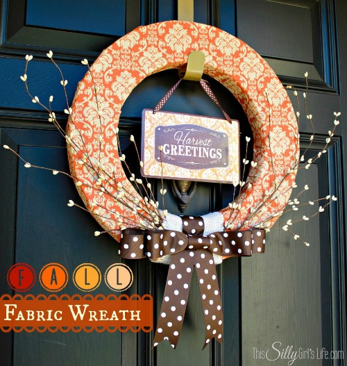 Fall Fabric Wreath by This Silly Girl's Life
