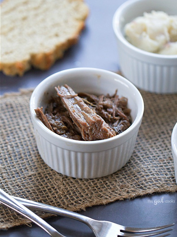 Super Simple Crockpot Roast Beef