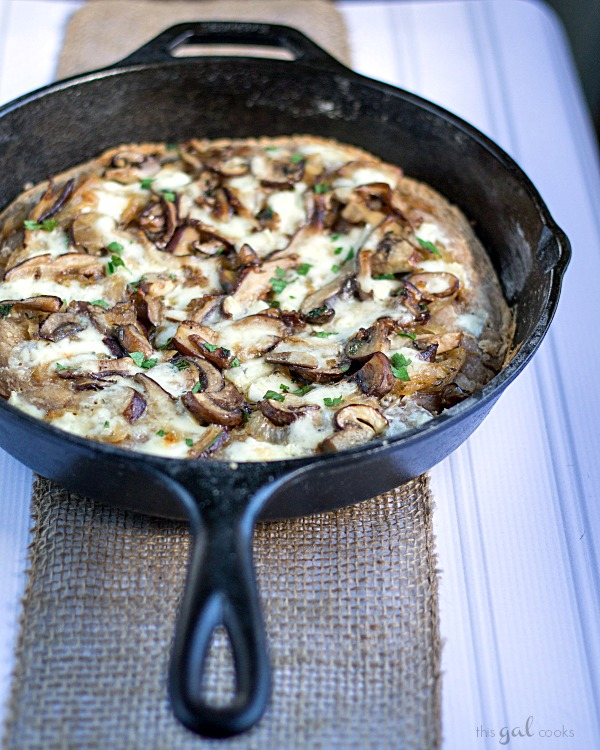 Mushroom and Brie Pizza with Whole Wheat Beer Crust #pizza #beercrust #mushrooms