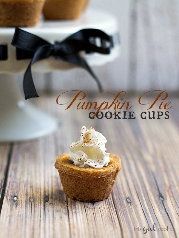 Pumpkin Pie Cookie Cups