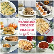 Traffic and Blogging Income September 2013 www.thisgalcooks.com #bloggingincome #bloggingtraffic #googleanalytics