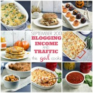 Traffic and Blogging Income September 2013