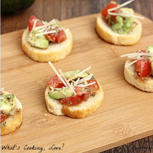 Avocado Bruschetta by What's Cooking, Love?