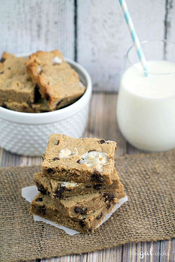 Chocolate Chip Peanut Butter Marshmallow Bars