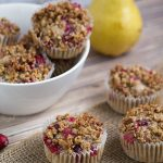 Cranberry Muffins with Rum Pecan Streusel