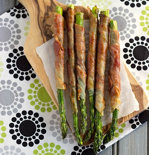Prosciutto Wrapped Asparagus by Cooking on the Front Burner