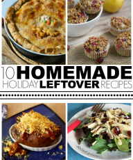 Ten Homemade Holiday Leftover Recipes. Ideas on how to use up items ranging from turkey to cranberries to pumpkin puree!