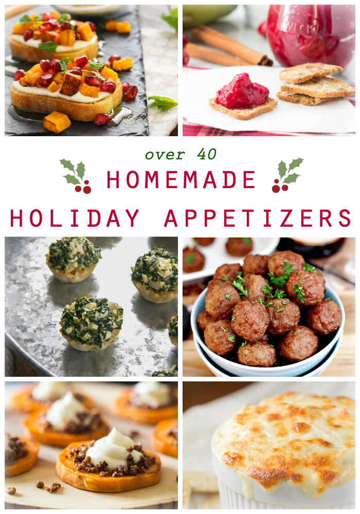 The holidays can be hectic. But don't let your party planning get the best of you. Here is a collection of easy and delicious Homemade Holiday Appetizers that will keep your Thanksgiving and Christmas guests satisfied until the main course is served!