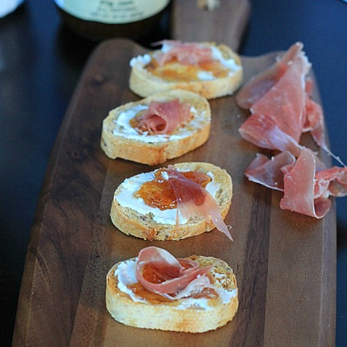 Prosciutto, Fig & Goat Cheese Crostini by Joyful Healthy Eats