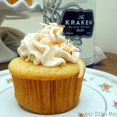 Spiced Rum Cupcakes with Boozy Buttercream by Sugar Dish Me