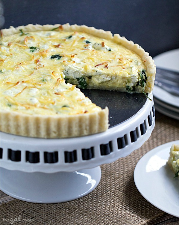 Spinach, Leek and Goat Cheese Tart