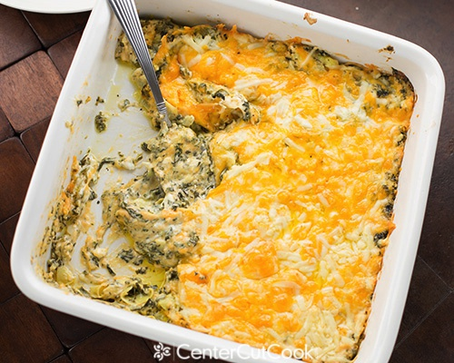 Warm Spinach & Artichoke Dip by Center Cut Cook