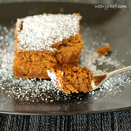 Spiced Rum Pumpkin Dump Cake by The Weary Chef