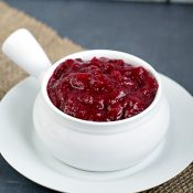Homemade Cranberry Sauce - This Gal Cooks. In under 25 minutes you can have delicious homemade cranberry sauce!