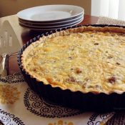 Sausage Egg and Cheese Quiche Tart from This Gal Cooks.