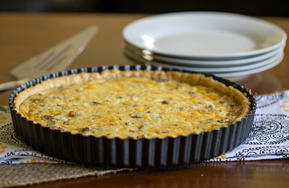 Sausage egg and cheese quiche tart this gal cooks for Quiche not setting