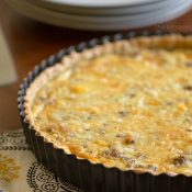 Sausage Egg and Cheese Quiche Tart
