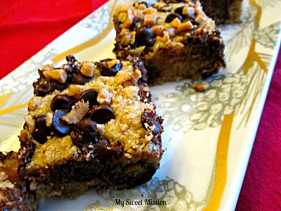 Our most viewed was these Chocolate Chip Toffee Bars by My Sweet Mission
